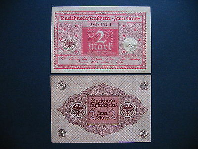 GERMANY  2 Mark 1.3.1920  Ros. 65b  (P59)  UNC