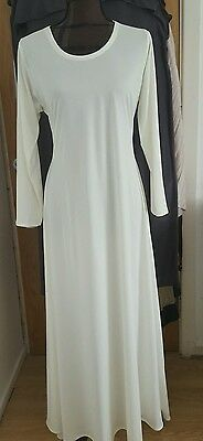 New Long Sleeve Dress Jilbab Abaya Lycra Size 56