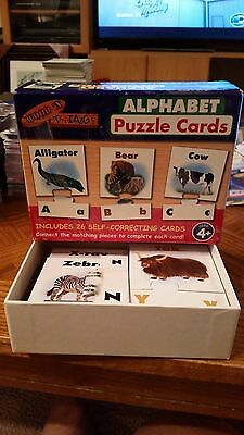 Wood 'n Things Alphabet Puzzle Cards - 26 Self Correcting Cards