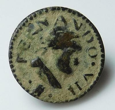 *HHC* Antique Spanish Button, Early 1800's, Fernando VII (Inv #U620)