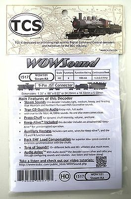 DCC TCS WOW101-KA Steam Sound Decoder with Keep Alive HO Scale, Version 4