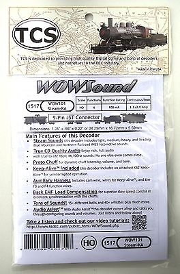 DCC decoder TCS WOW101-KA Steam Sound Decoder with Keep Alive HO Scale