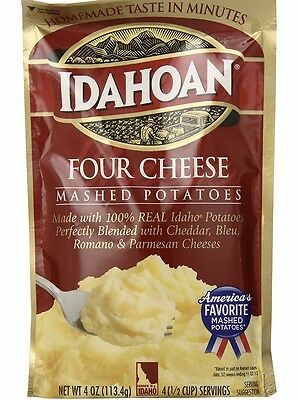 Idahoan mashed potatoes four cheese 2 - 4 oz packages