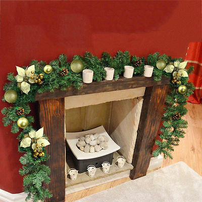 270cm (9ft) x 25cm Imperial Pine Christmas Garland Decoration Fireplace Wreath