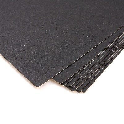 10 Sanding Sheets Silicon Carbide Waterproof Sandpaper ~ 220 Grit ~ New