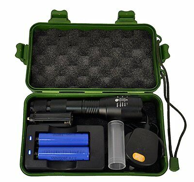 2200 Lumens CREE XM-L T6 LED Zoomable Rechargeable Flashlight Torch High Power