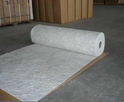"fiberglass chopped strand mat 3/4oz (0.75oz) 41"" wide  39ft (13Yards) long"
