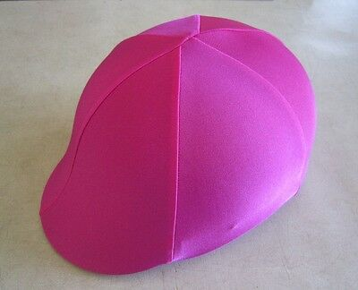 Horse Helmet Cover ALL AUSTRALIAN MADE All Hot Pink lycra Any size you need