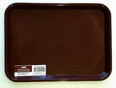 Brand New Brown Rectangular Plastic Serving trays/Platters/Coffee Mugs Trays