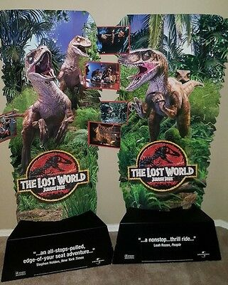 Vintage JURASSIC PARK THE LOST WORLD movie theater DISPLAYS