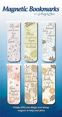 AngelStar Pack of 6 Religious Magnetic Bookmarks