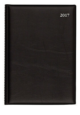 2017 Collins Belmont Desk Diary Diaries  A5 Week To Open 387 - Black