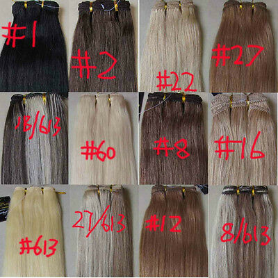 """More Colors AAA+ 15""""-36"""" Remy Human Hair Weft Extensions Straight 100g Width 59"""""""