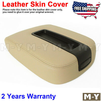 Fits 07-13 Chevy Tahoe, Suburban, Yukon Leather Console Lid Armrest Cover TAN
