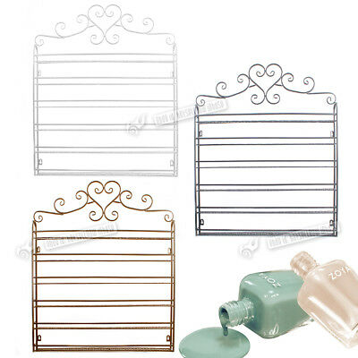 Valentine New Metal Wall Mounted 6 Tier Nail Polish Rack Organizer Display Shelf