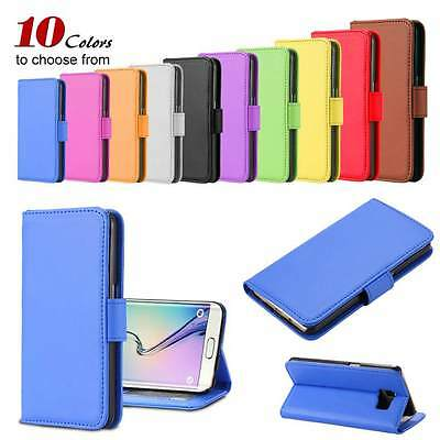 Stand Leather Card Wallet Magnetic Case Cover For Samsung Galaxy S6 S7 iPhone 7