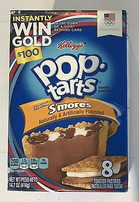 900686 416g BOX OF 8 POP TARTS - FROSTED S'MORES - TOASTER PASTRIES - USA