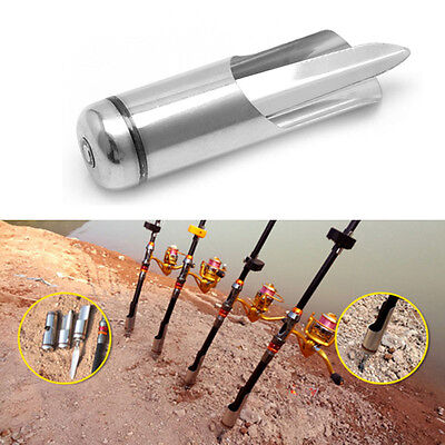 Adjustable Stainless Steel Fishing Rod Pole Ground Spike Holder Stand Support