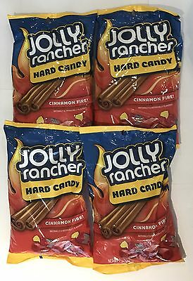 908703 4 x 198g BAGS OF JOLLY RANCHER HARD CANDIES - CINNAMON FIRE! - USA