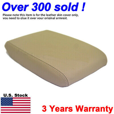 Fits 2008-2013 Toyota Highlander Leather Console Lid Armrest Cover Beige Tan