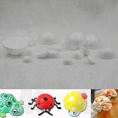 Polystyrene Styrofoam Foam Ball Hemisphere DIY Handmade Decorations Party New