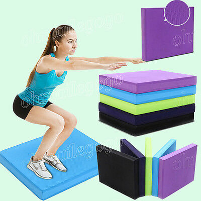 New Yoga Mobility Stability Rehab Non-Slip Brick Balance Pad Mat Gravity Fitness