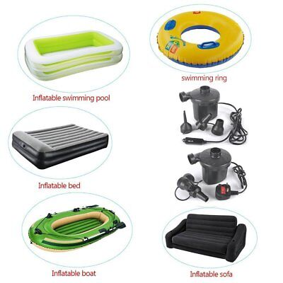 240v/12v AIRPUMP ELECTRIC AIR PUMP AIRBED/TOYS INFLATOR CAMPING CAR & MAINS PLU