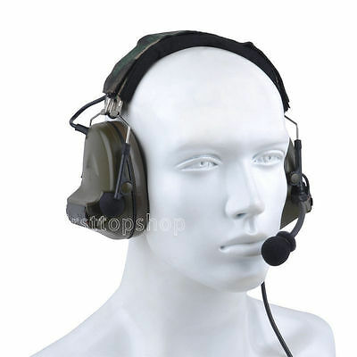Tactical Comtac II C2 Style Noise Reduction Headset for Airsoft / Milsim - OD