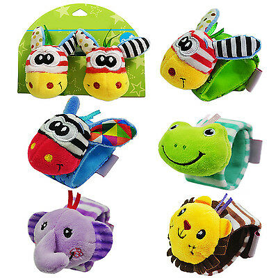 FA Popular Rattle Set Baby Sensory Toys Foot finder Socks/Wrist Rattles Bracelet