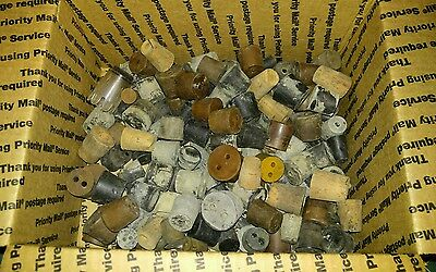 50+ Vintage Beaker Bottle Stopper Lot Cork Rubber Chemistry Halloween Laboratory