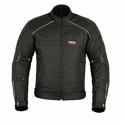 MCW Gear Black Hawk Mens Motorcycle Motorbike Textile Cordura Jacket CE Armoured