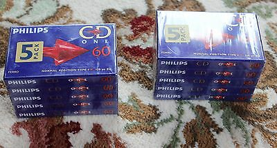 20 X Philips Cd One 60 Blank Audio Cassettes Type 1
