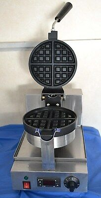 ACE Commercial Single Deep Rotating ROUND WAFFLE BAKER GRILL MACHINE Digital