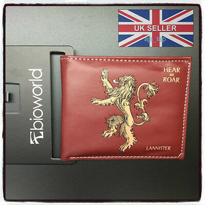 NEW Game of Thrones Lion Lannister Leather Wallet Brand New Cosplay *UK Stock