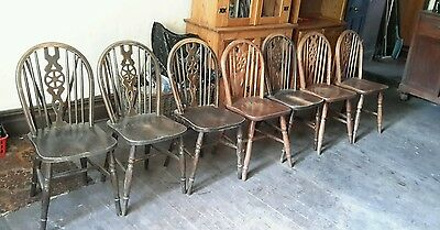 Stunning Solid Oak Antique Chairs