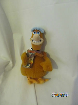 "9"" cute soft babs from chicken run golden bear plush doll new tag"