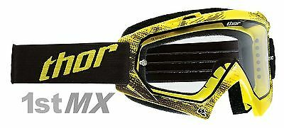 Thor Enemy Motocross MX Race Goggles Adult Tread Yellow Clear Lens