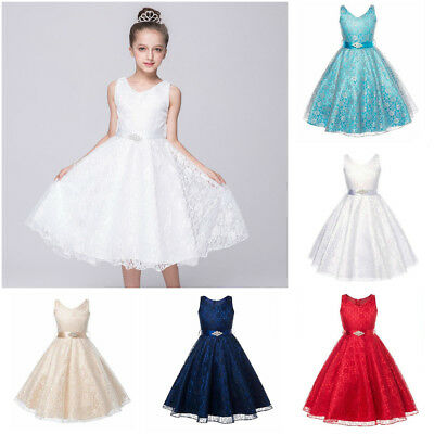Kids Clothes Summer Party Birthday Prom Teenage Flower Girl Dress Wedding