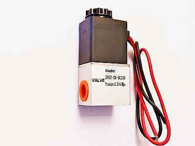 "1/4"" Inch Normally Closed Pneumatic Aluminum Electric Solenoid Air Valve 12v DC"