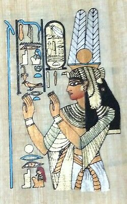 Original Egyptian Papyrus, Queen Cleopatra, Handmade Painting 12 x 16 Cm