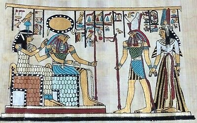 Original Papyrus, Isis Goddess of Marriage, Hours & Cleopatra, Handmade Painting