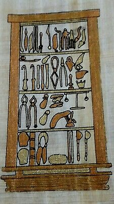 Original Egyptian Papyrus, Ancient Egyptian Tools, Handmade Painting 12 x 16Cm