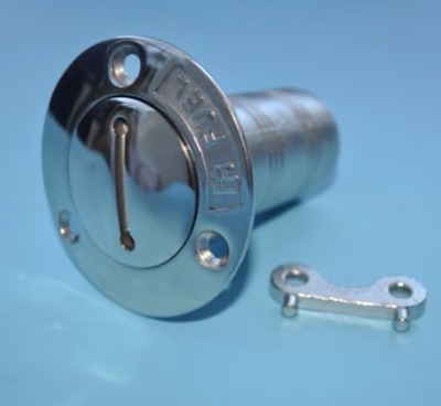 Marine Stainless Steel Fuel Boat Deck Filler 1 1/2 Inch Od With Keys
