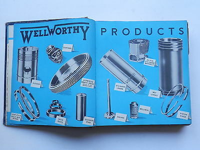 WELLWORTHY engine parts catalogue issued 1950 cars commercials etc.