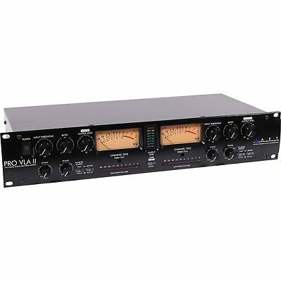 ART Pro VLA II Two Channel Rack Mount Tube Driven Vactrol-Based Compressor