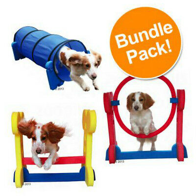 Dog Agility Equipment Jumps Tunnel Training Set Small Exercise Outdoor Hurdle