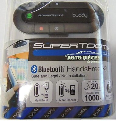 Supertooth – Kit Voiture Mains Libres Bluetooth Pare-Soleil Buddy Btbdy6 - Noir
