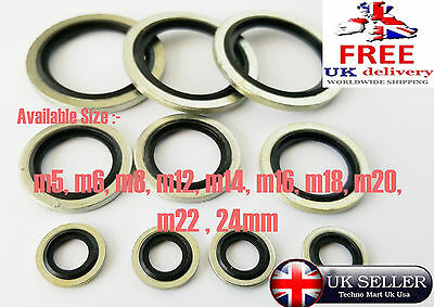 Metric Connect Bonded Seal Washer Fixings Washer Car Maintenanc Pack of 10