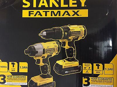 Stanley Fatmax 18V Cordless Twinpack Complete Kit X1 Impact Driver.new
