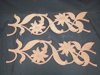 Architectural Salvage Wrought Iron Sunflowers & Vines Set of 2